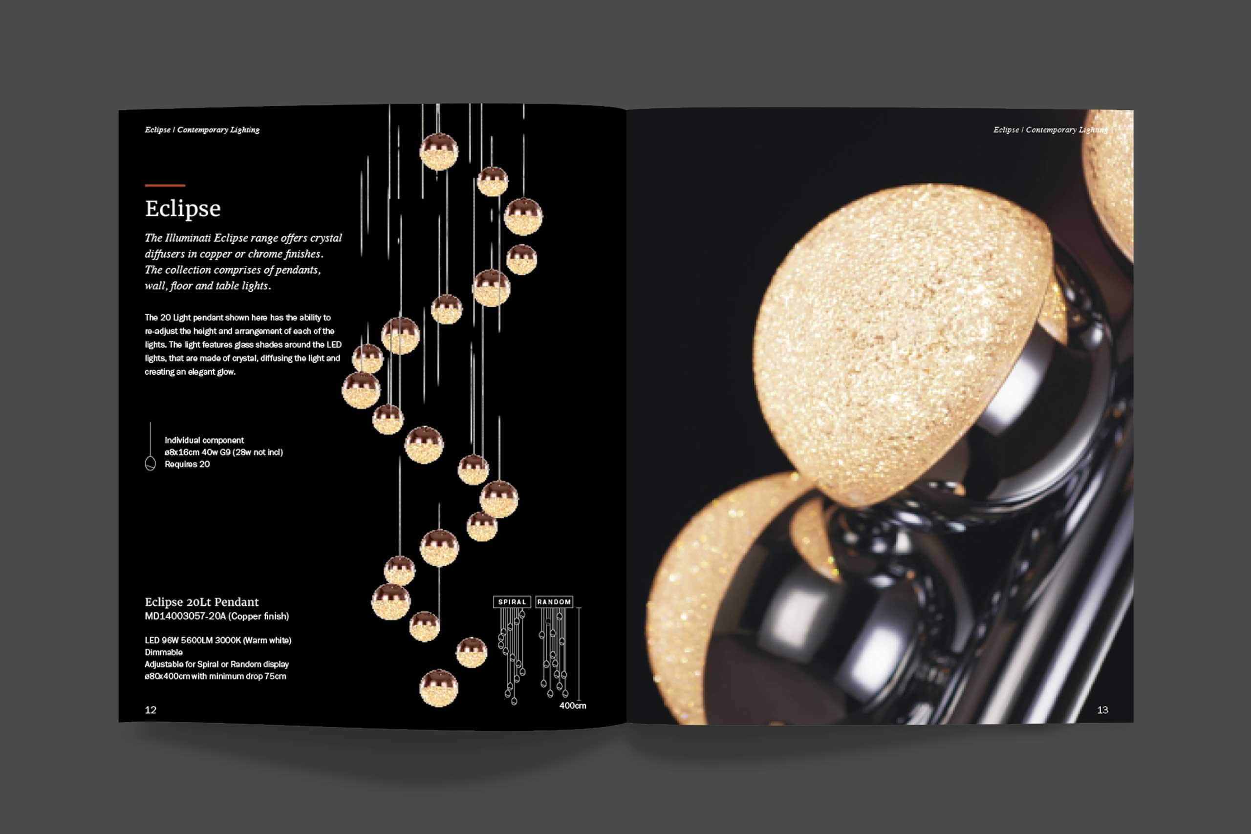 Iluminati brochure detail close-up