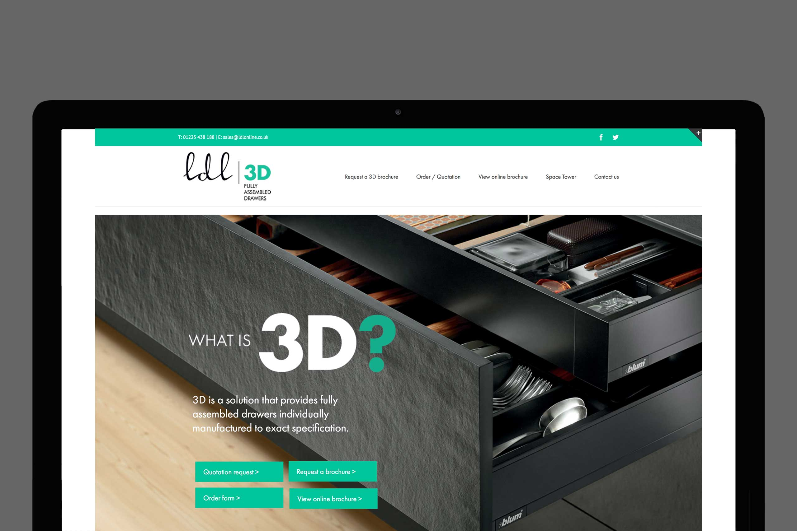 3D LDL website homepage