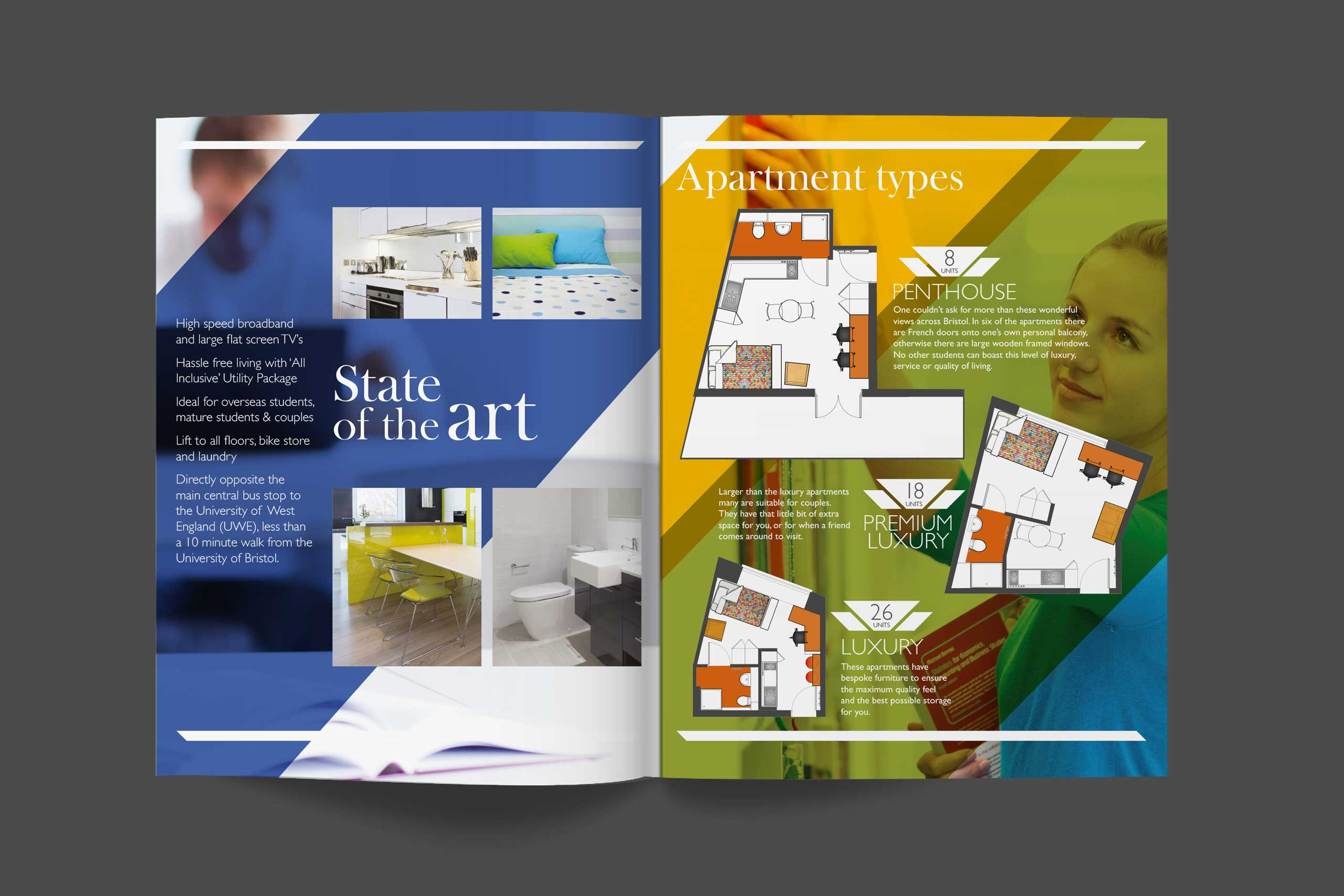 Property Marketing Literature spread for Saint Stephens