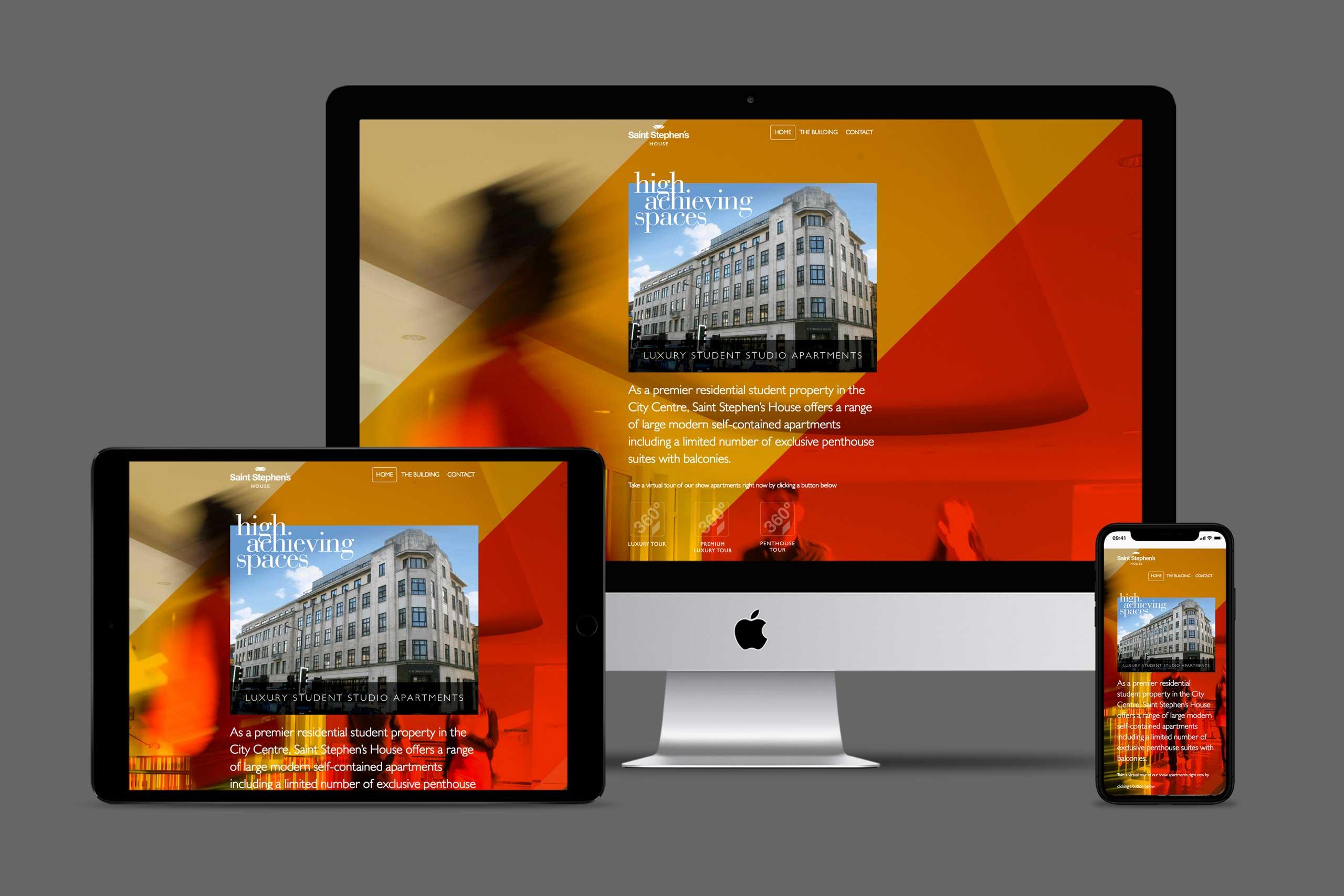Saint Stephens website Property Marketing