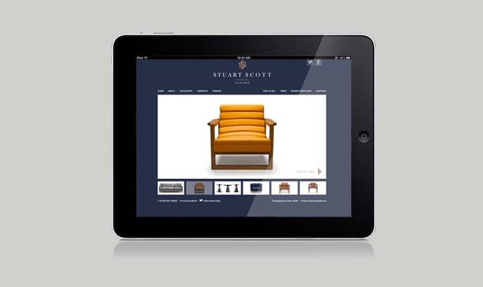 Luxury Furniture Branding Staurt Scott digital web