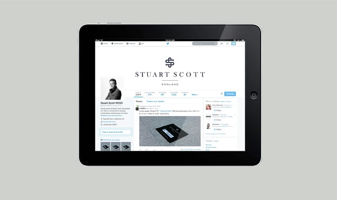 Luxury Furniture Branding Stuart Scott social media