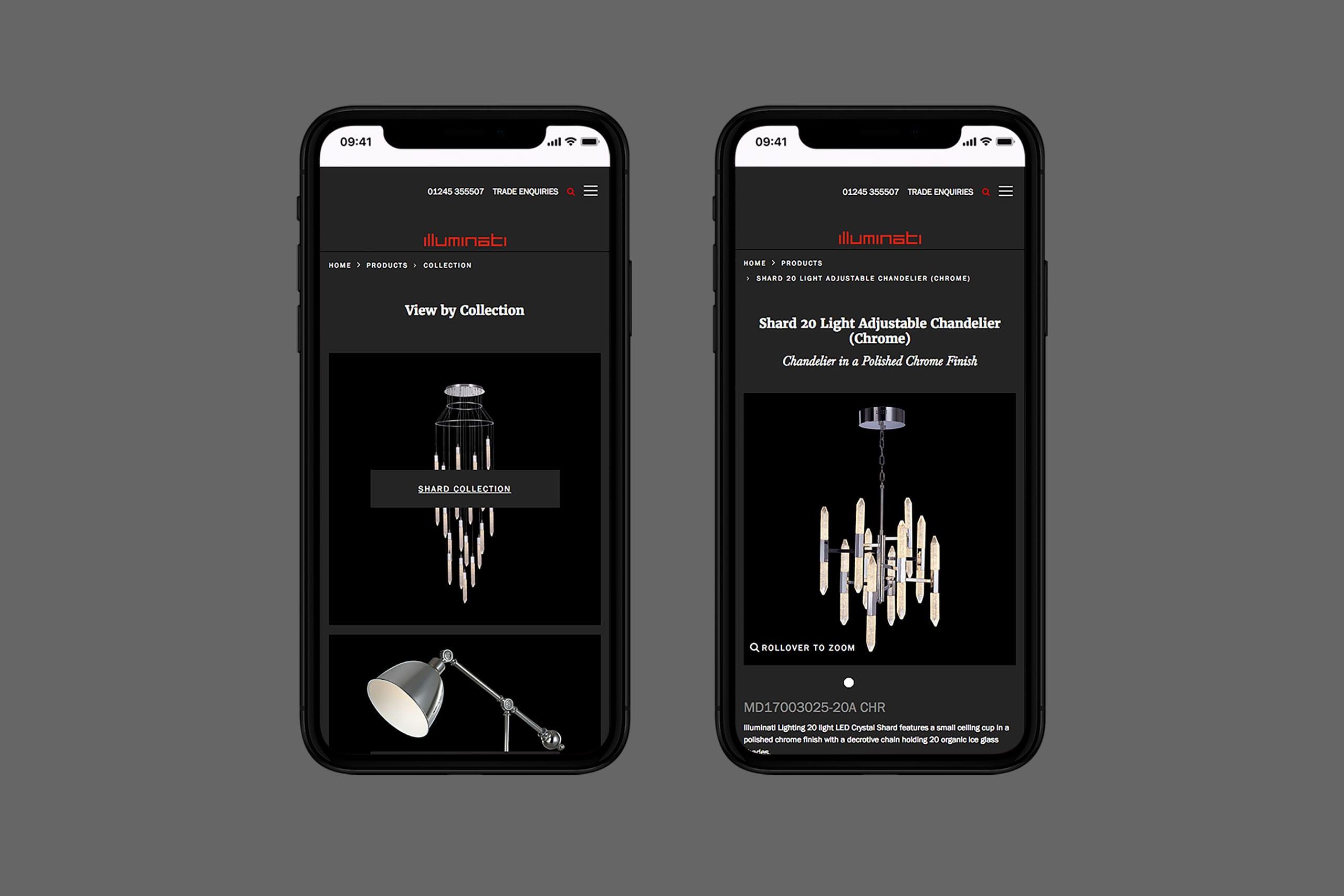 Illuminati Lighting responsive website