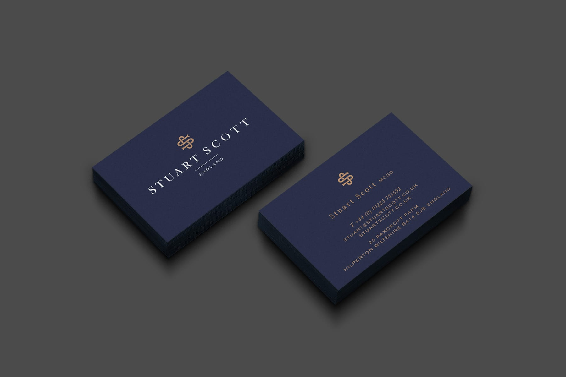Luxury Furniture Branding Stuart Scott Business cards