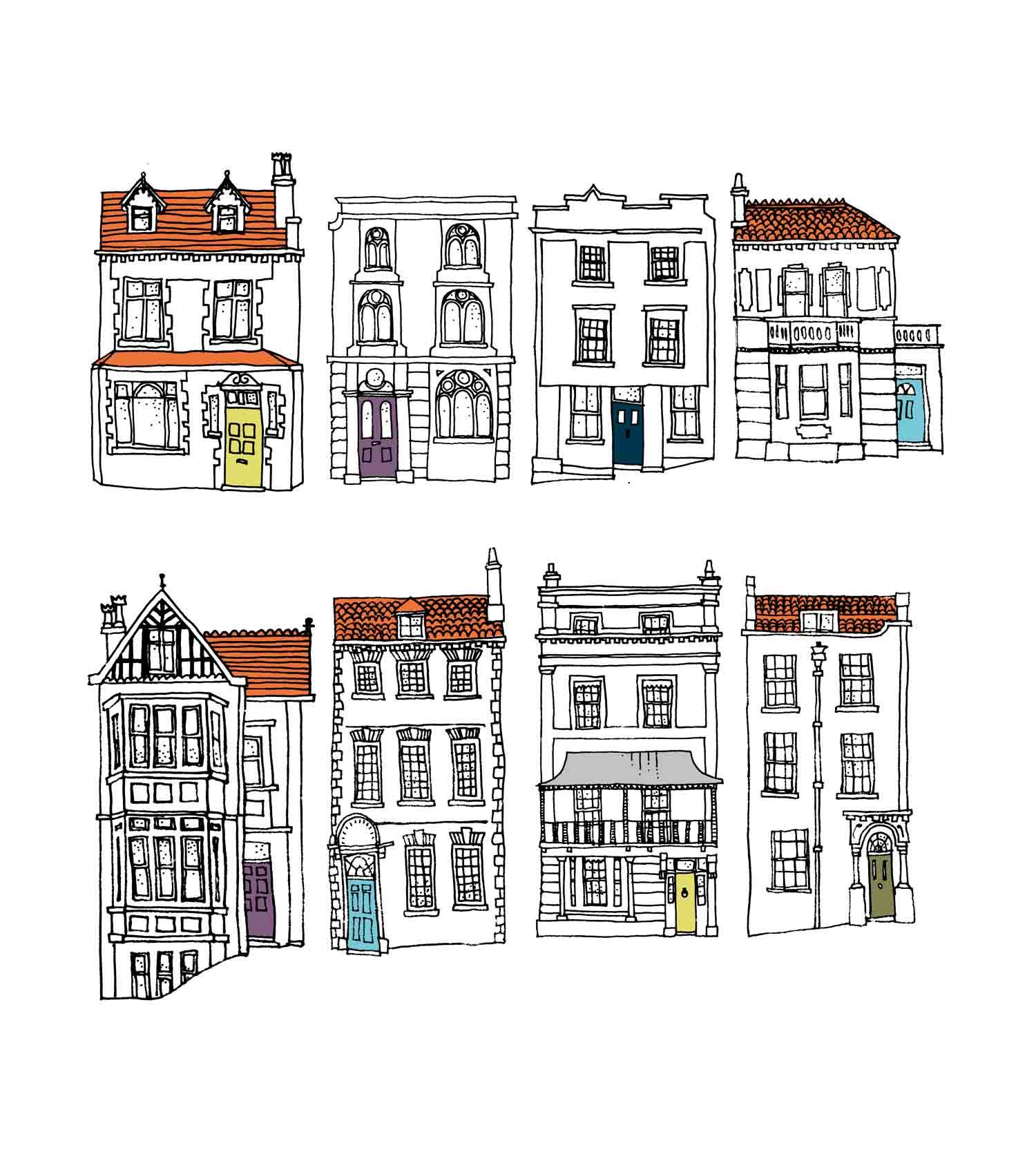 Abode illustrations of bristol