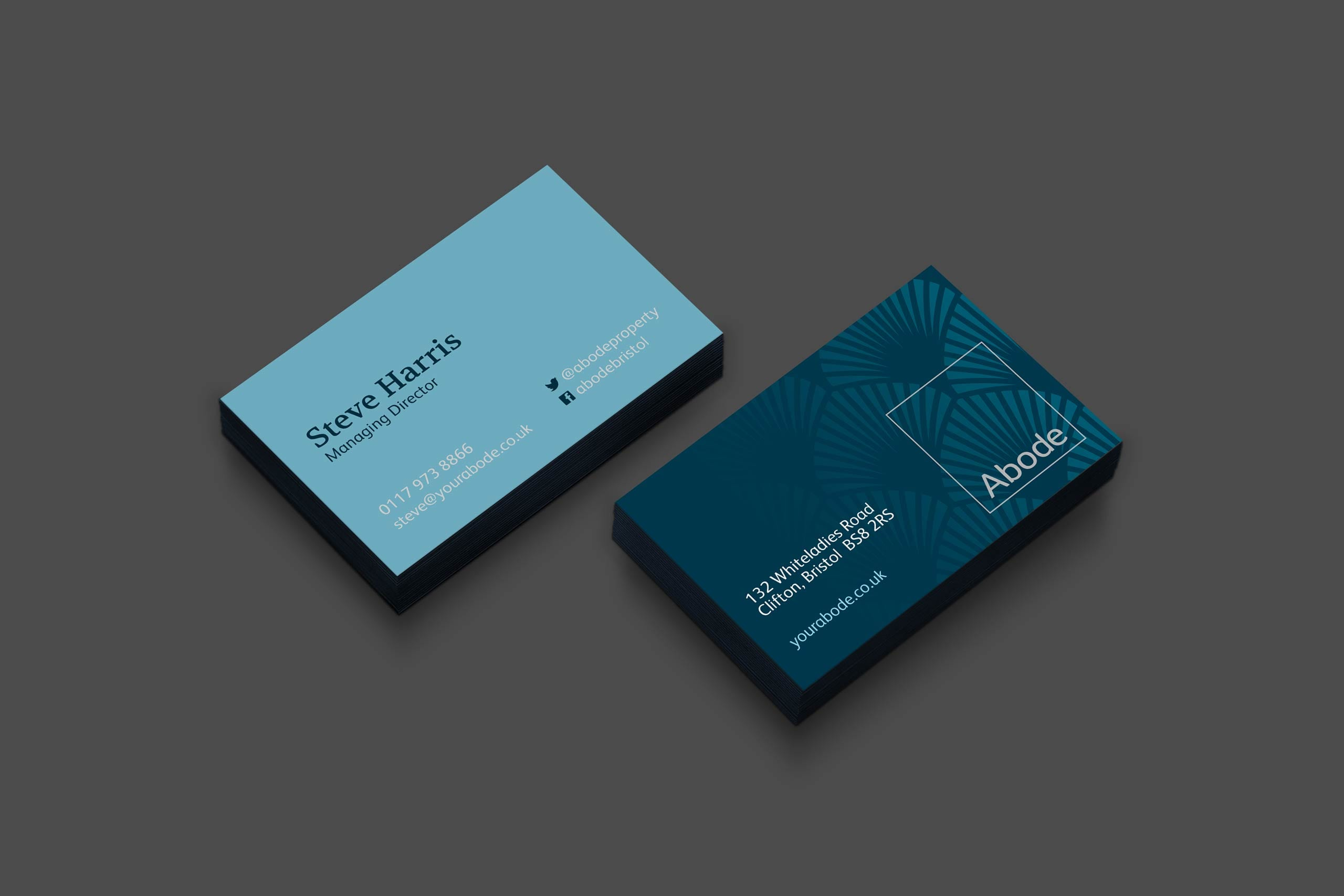 Abode business card | brand marketing agency