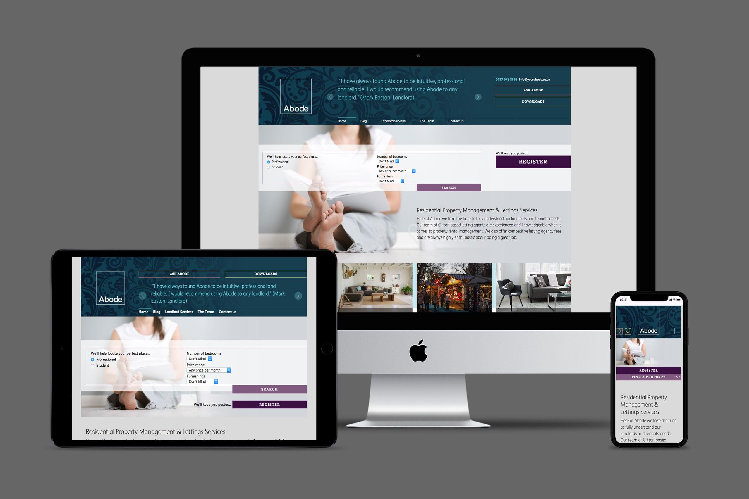 Abode website design