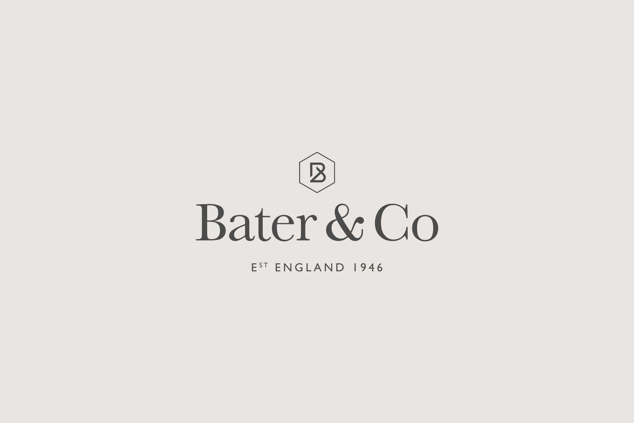 Lucury kitchen maker Bater & Co brand identity logo