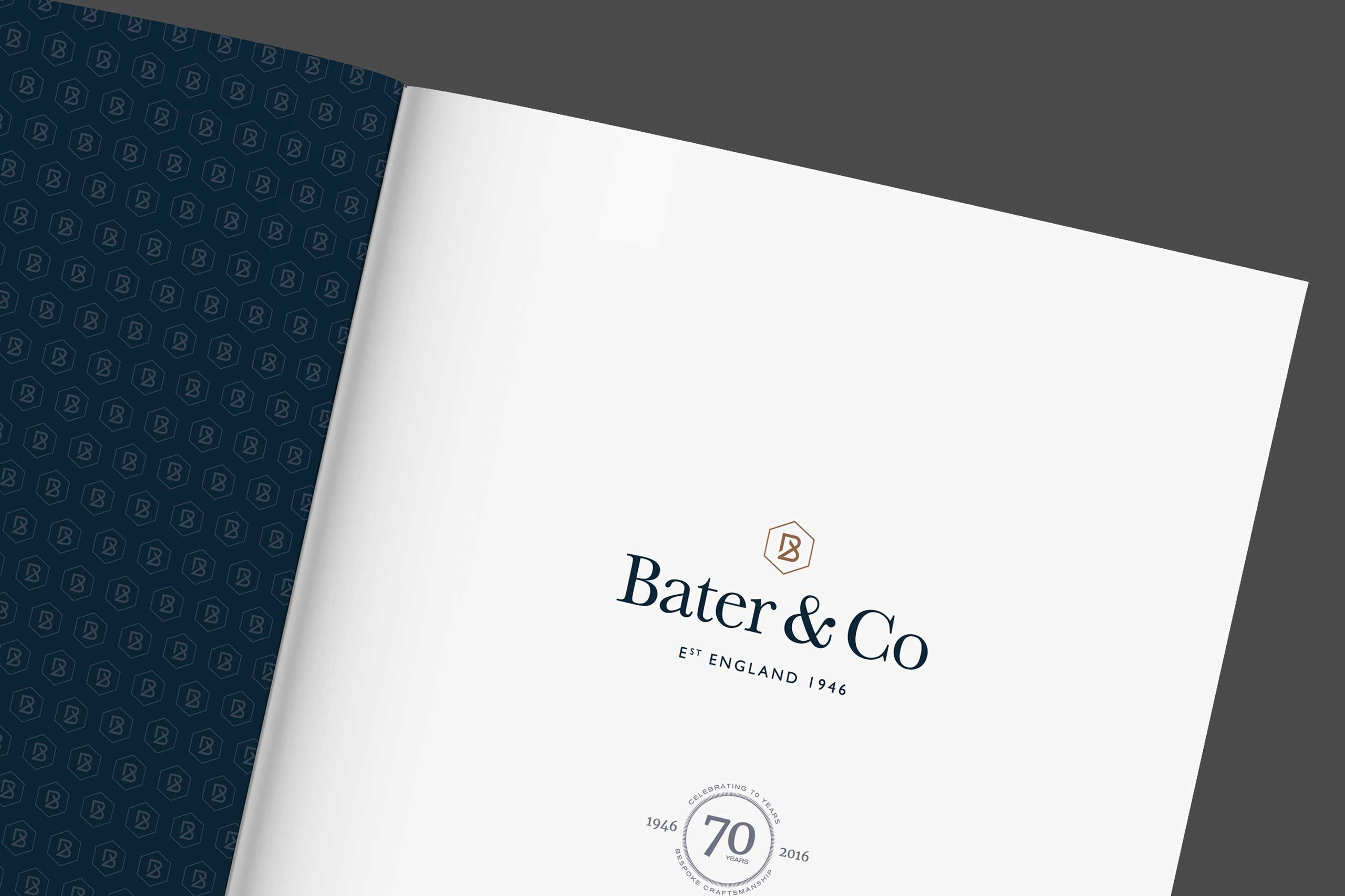 Bater & Co brochure inside cover bluxury brand marketing