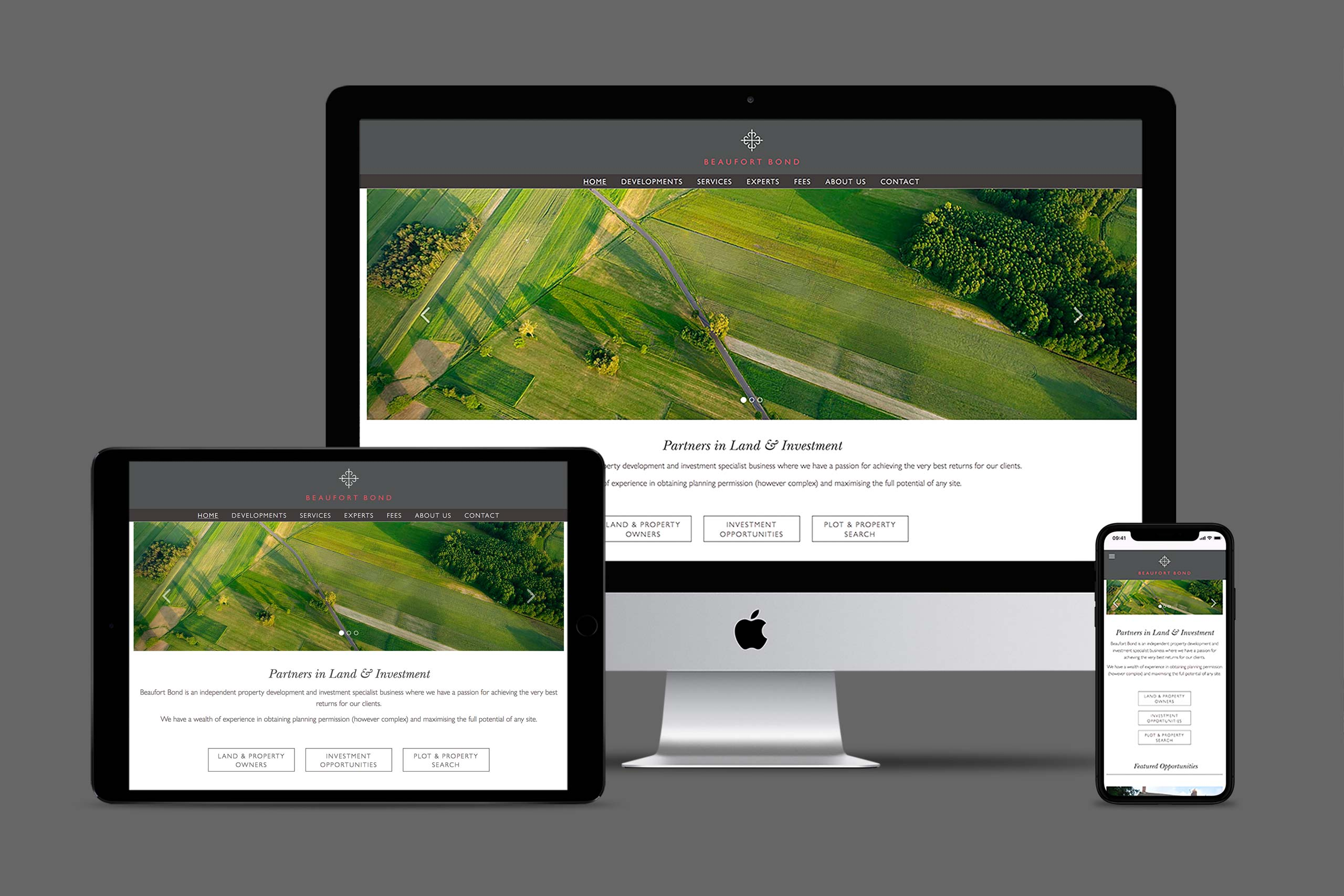 Beaufort Bond website design | property marketing agency
