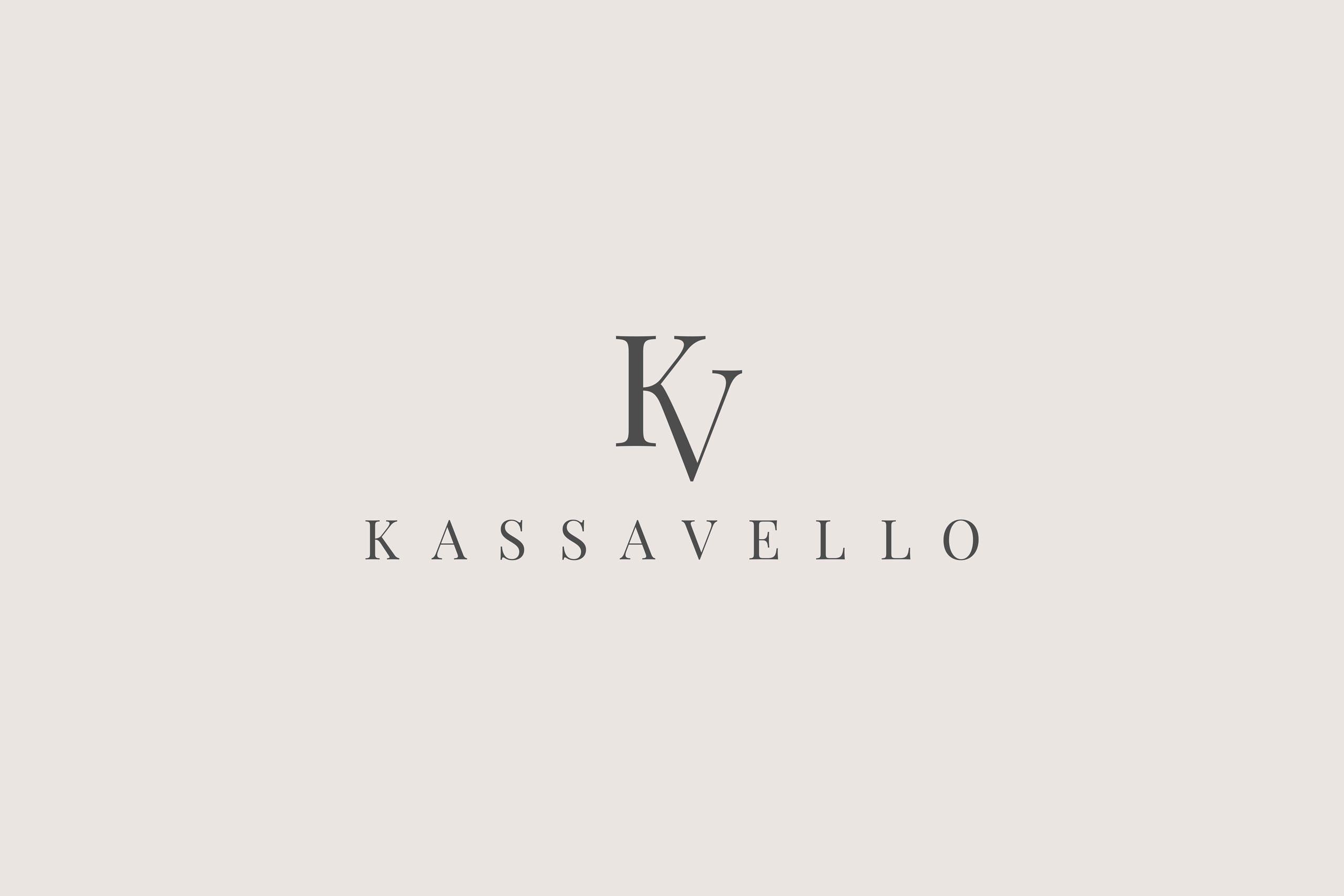 Luxury furniture logo design Kassavello brand name