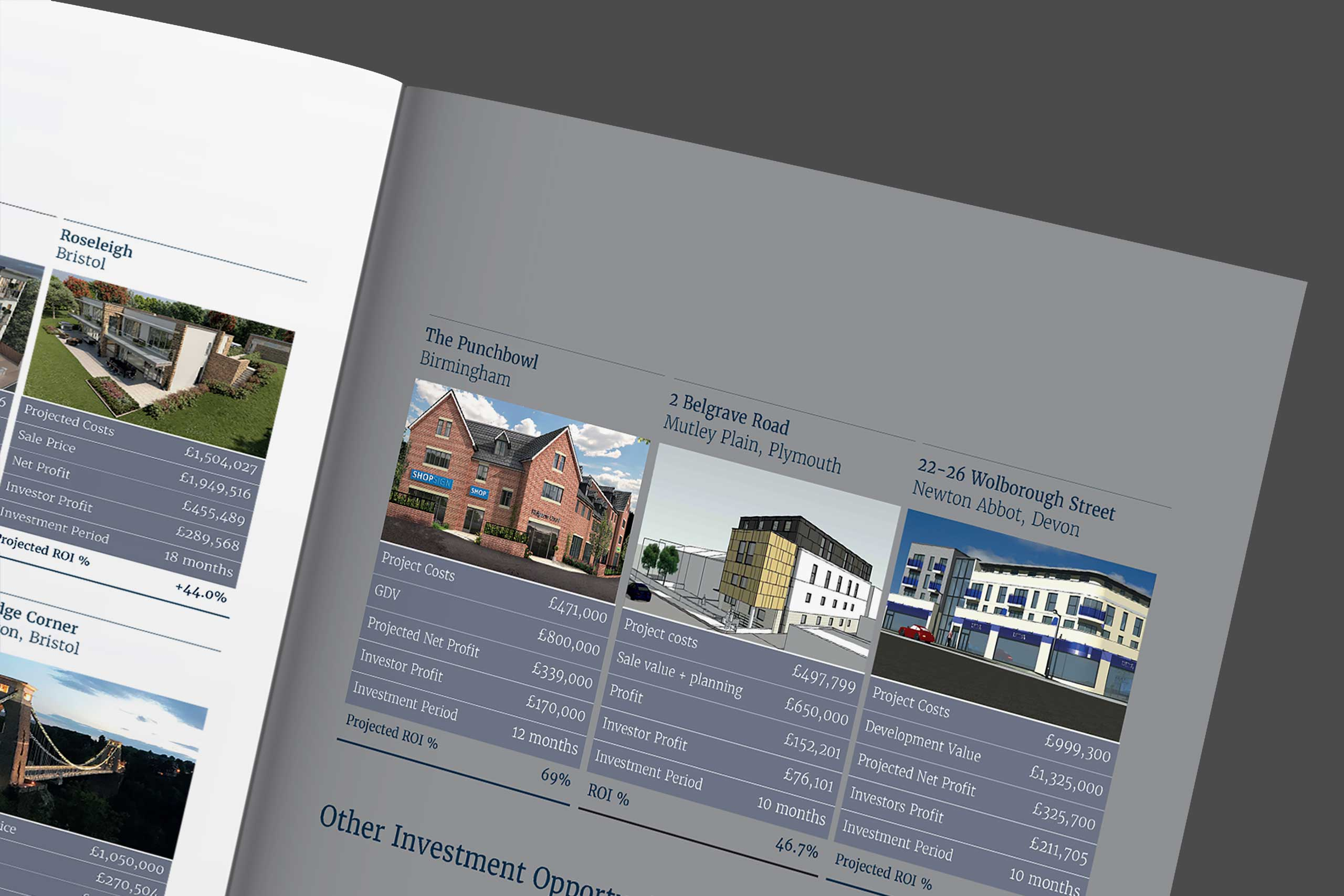 Coyne brochure spread angled | Property marketing and branding
