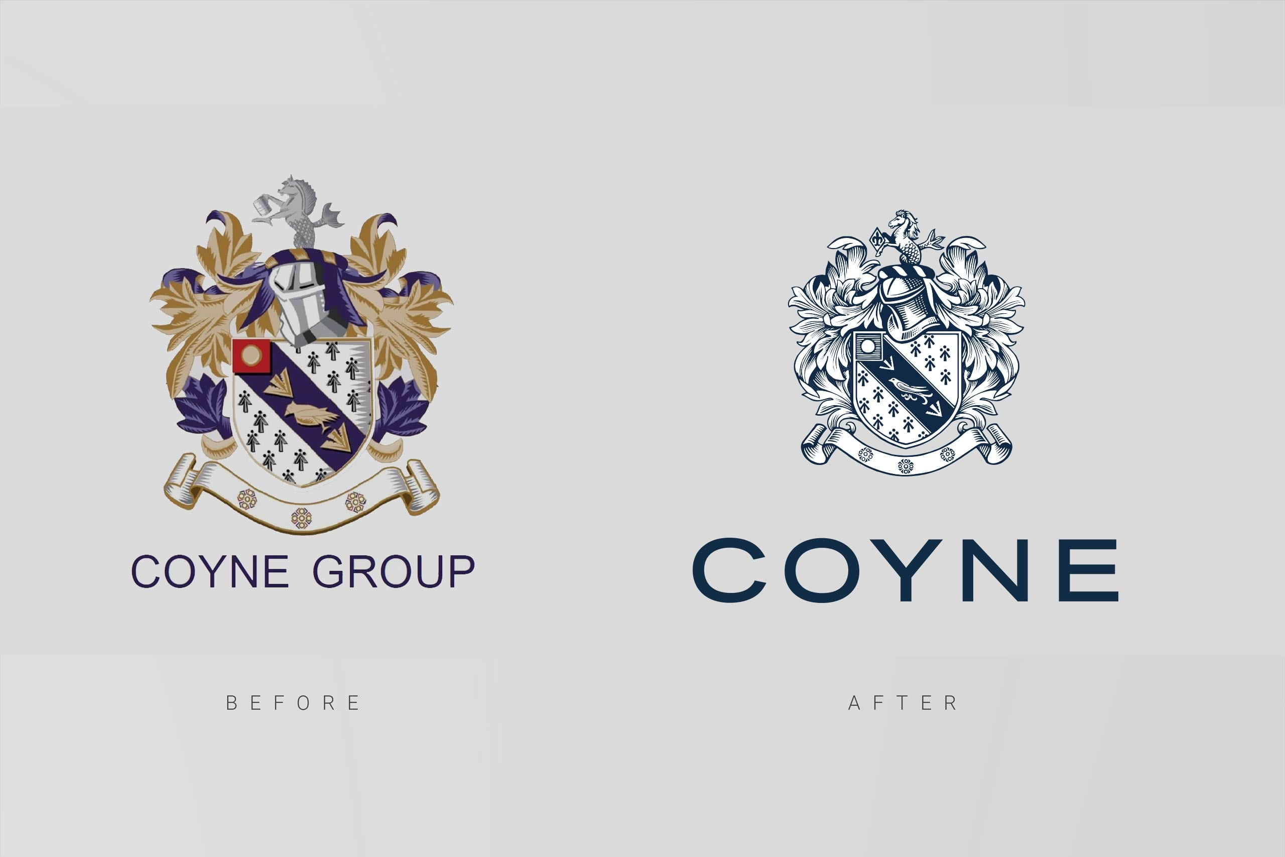 Coyne before and after | Property brand marketing