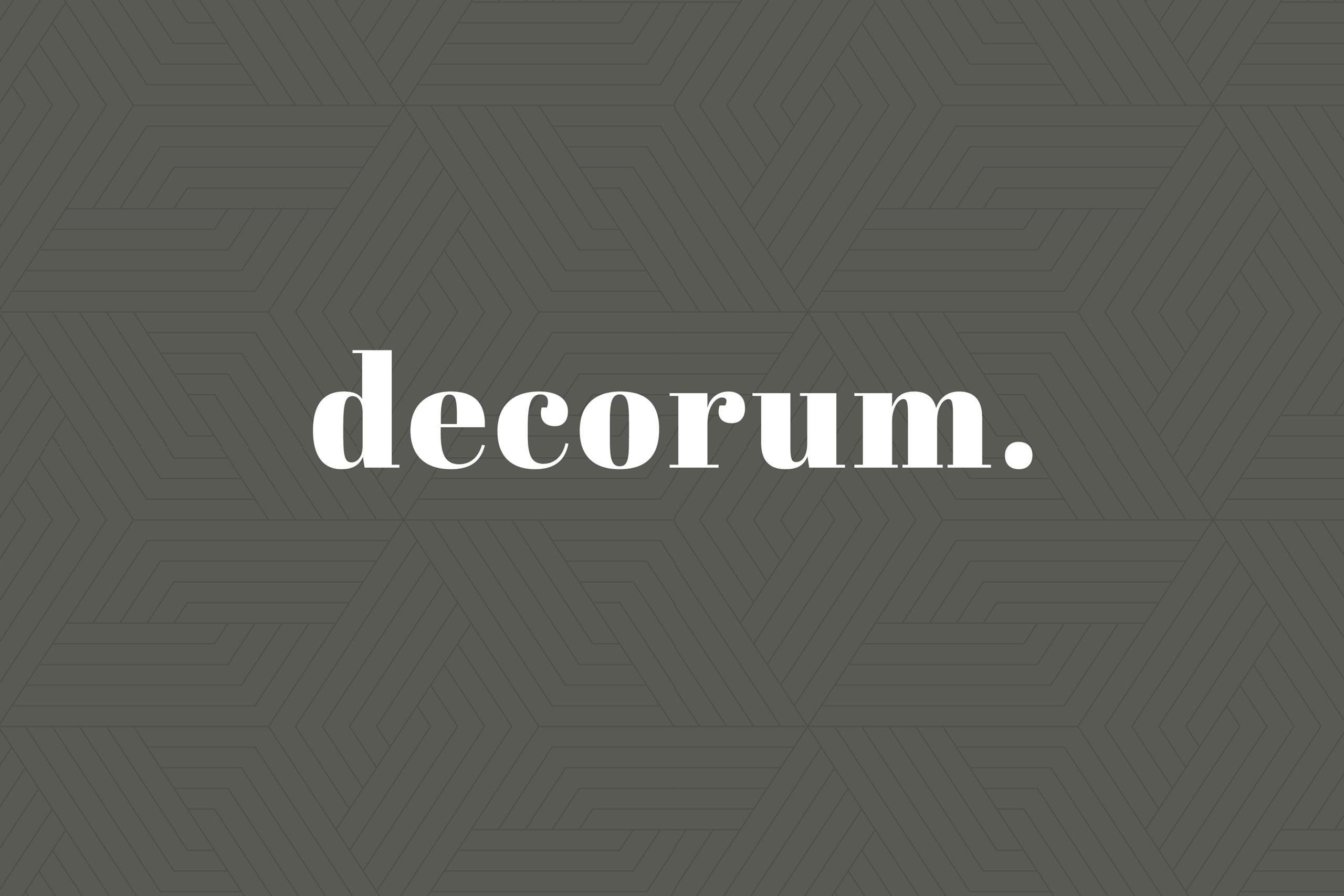 Brand marketing for interiors Decorum media brand ID