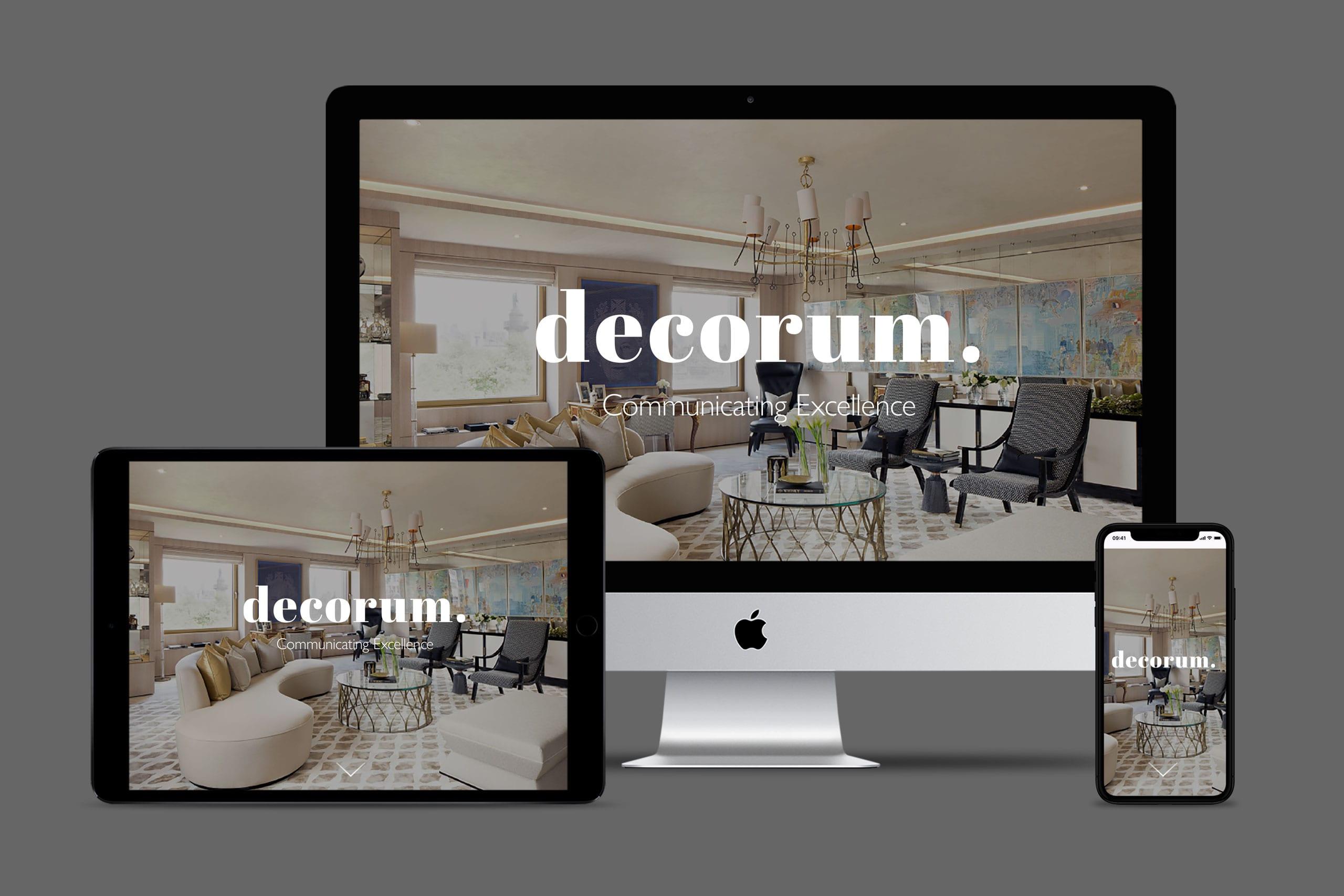 Decorum media responsive website