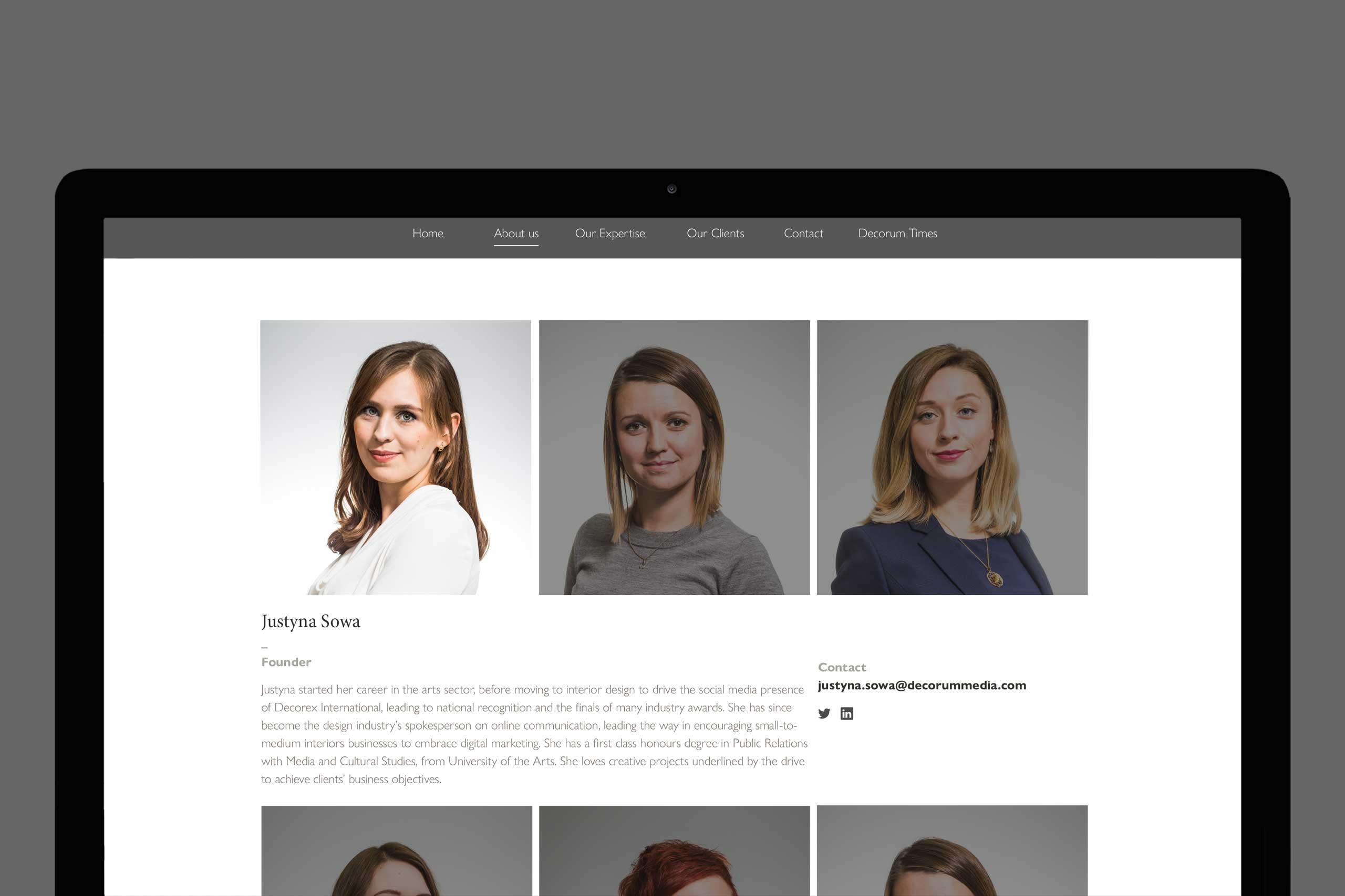 Brand marketing for interiors Decorum Media 2015 team