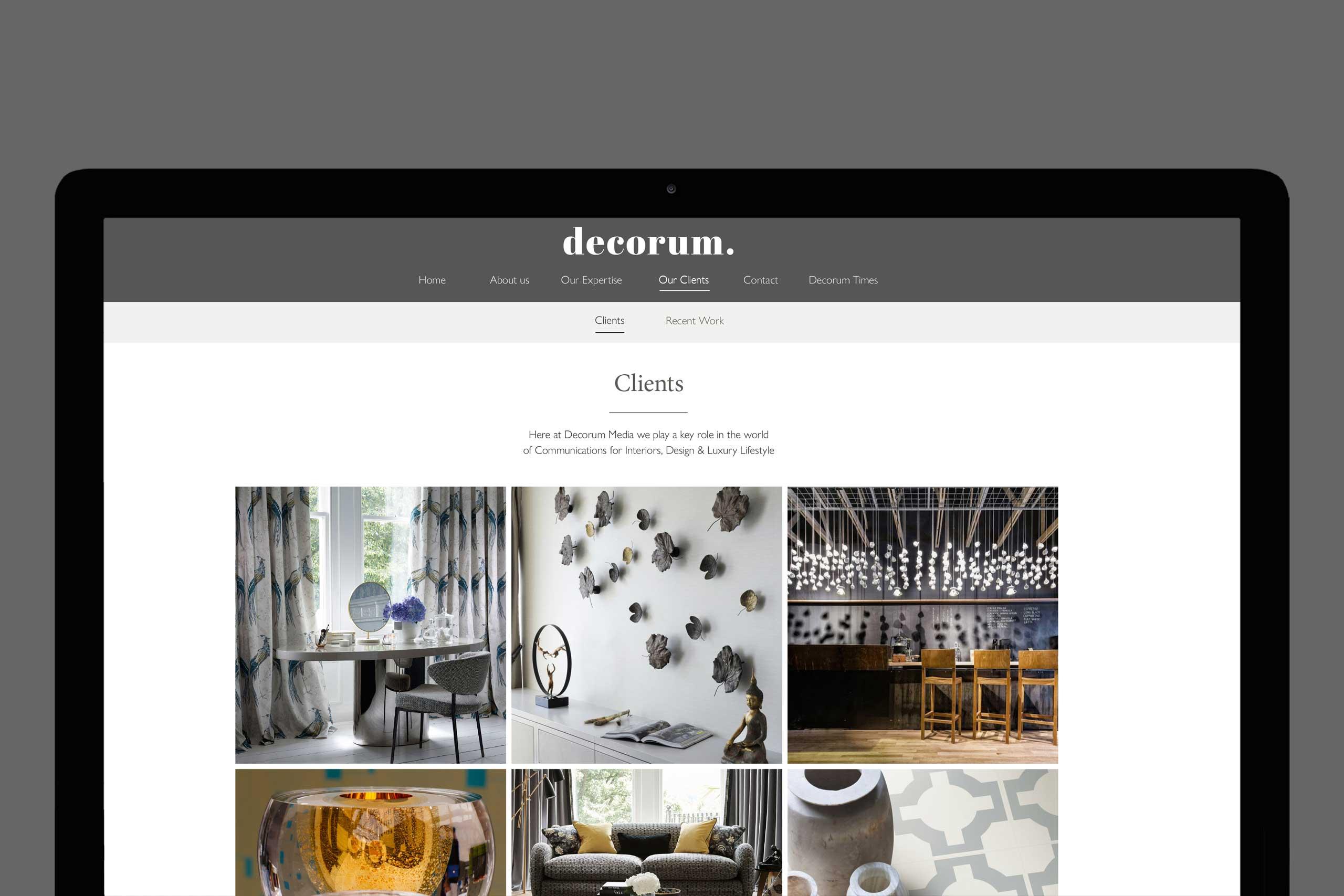 Brand marketing for interiors Decorum media 2015 clients