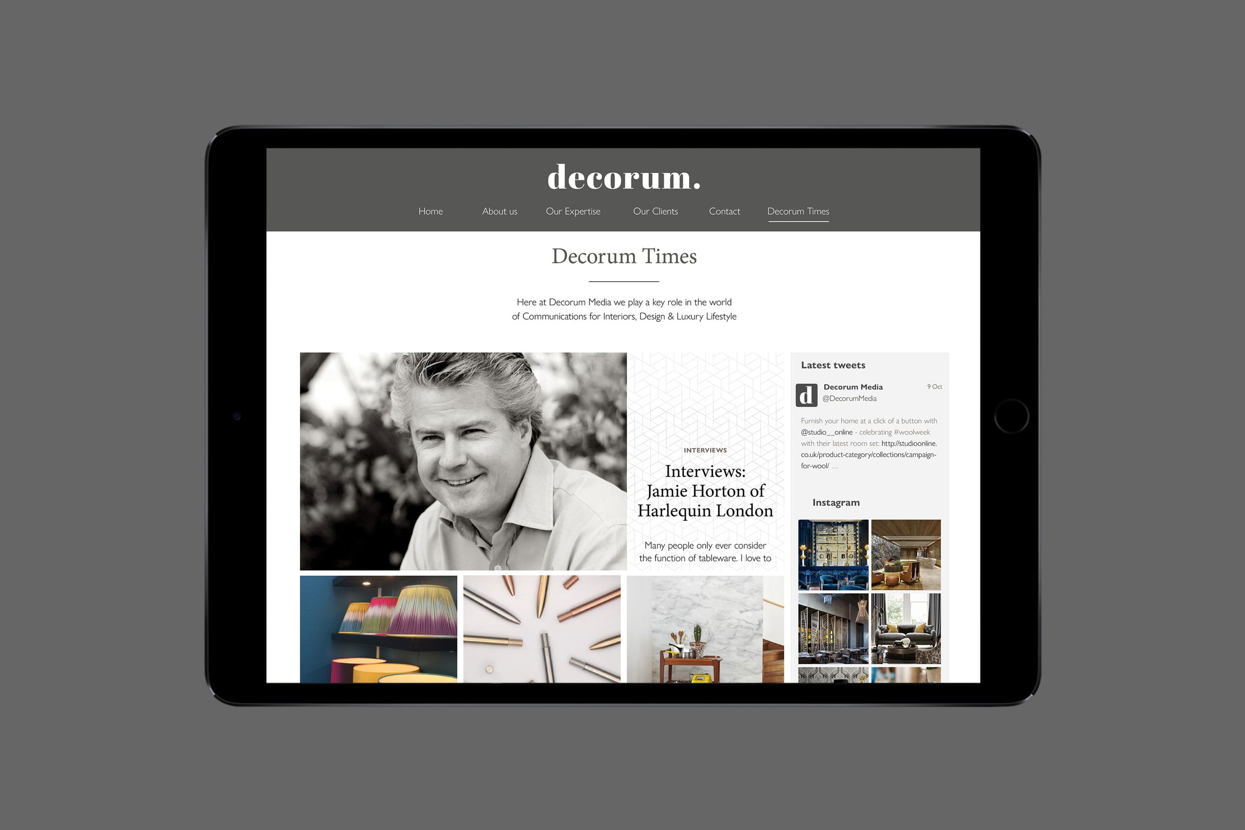 Decorum media website design