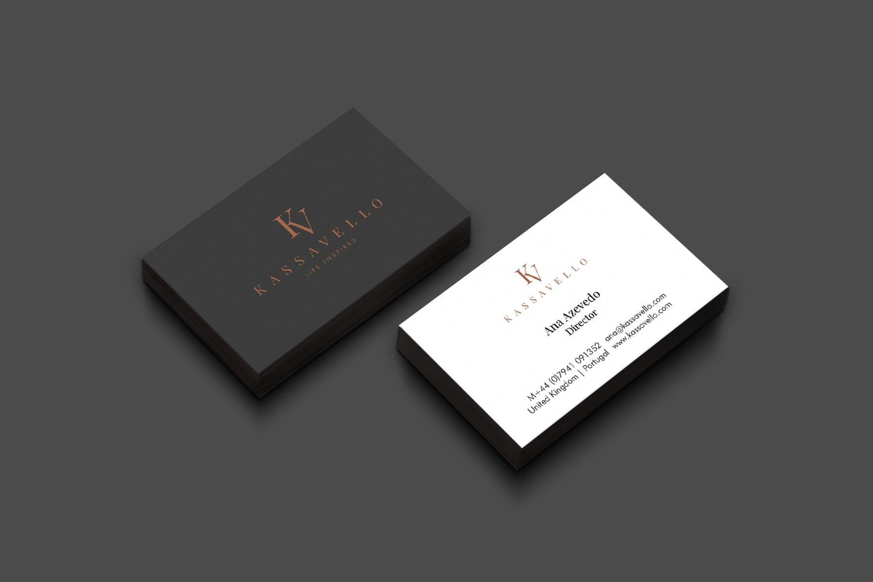 Kassavello business card