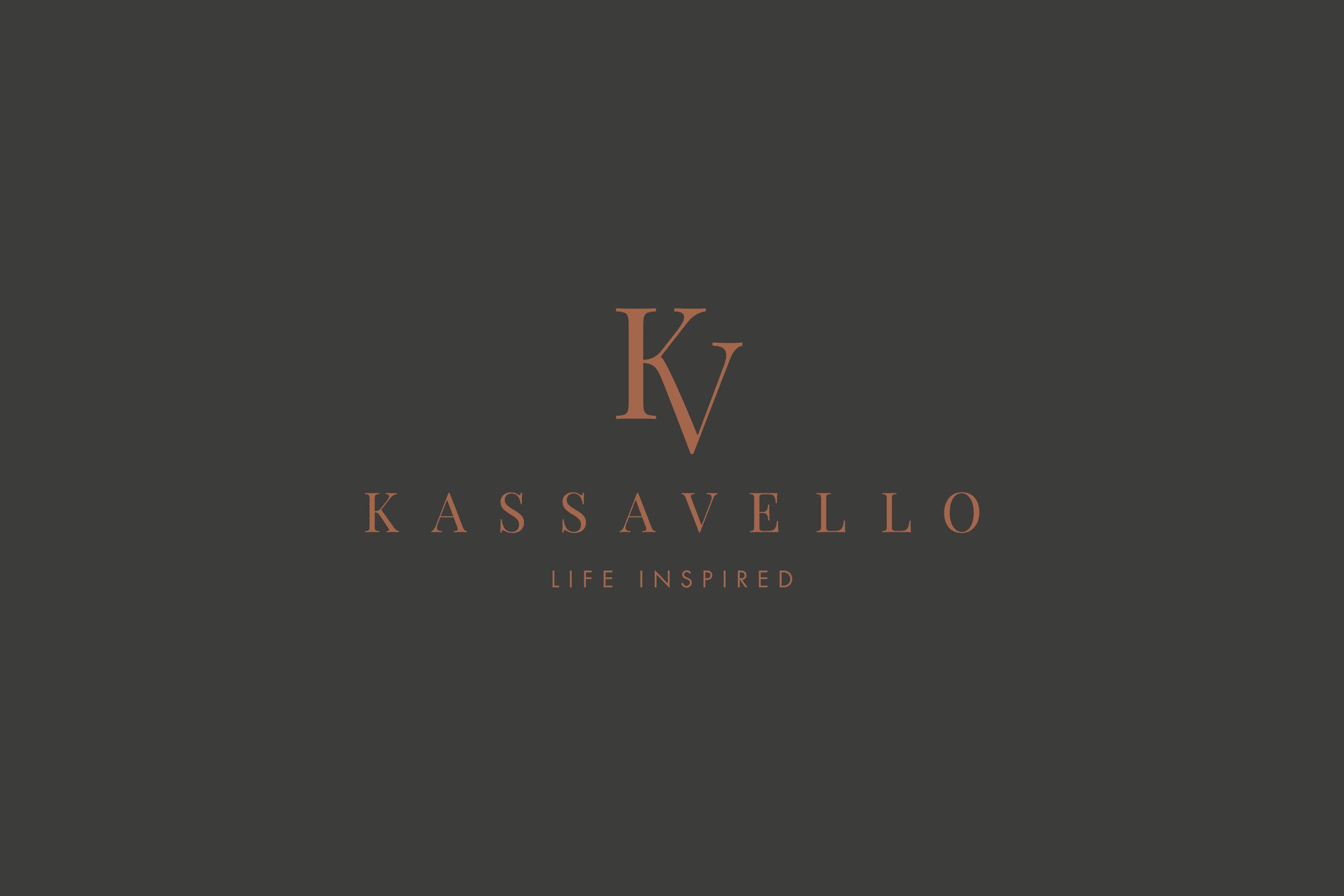 Kassavello identity Luxury furniture logo design