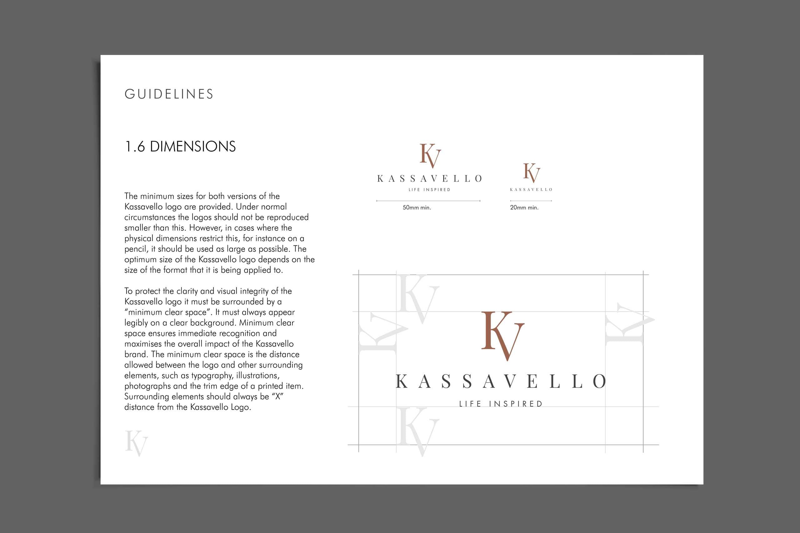 Kassavello guidelines Luxury furniture logo design