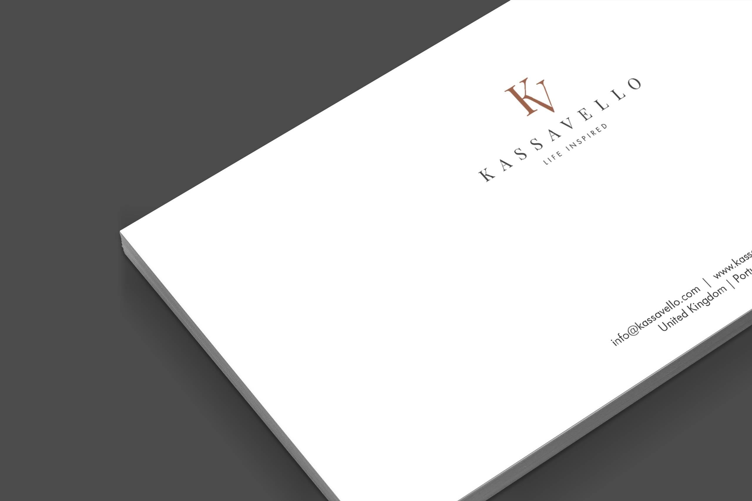 Kassavello stationery Luxury furniture logo design