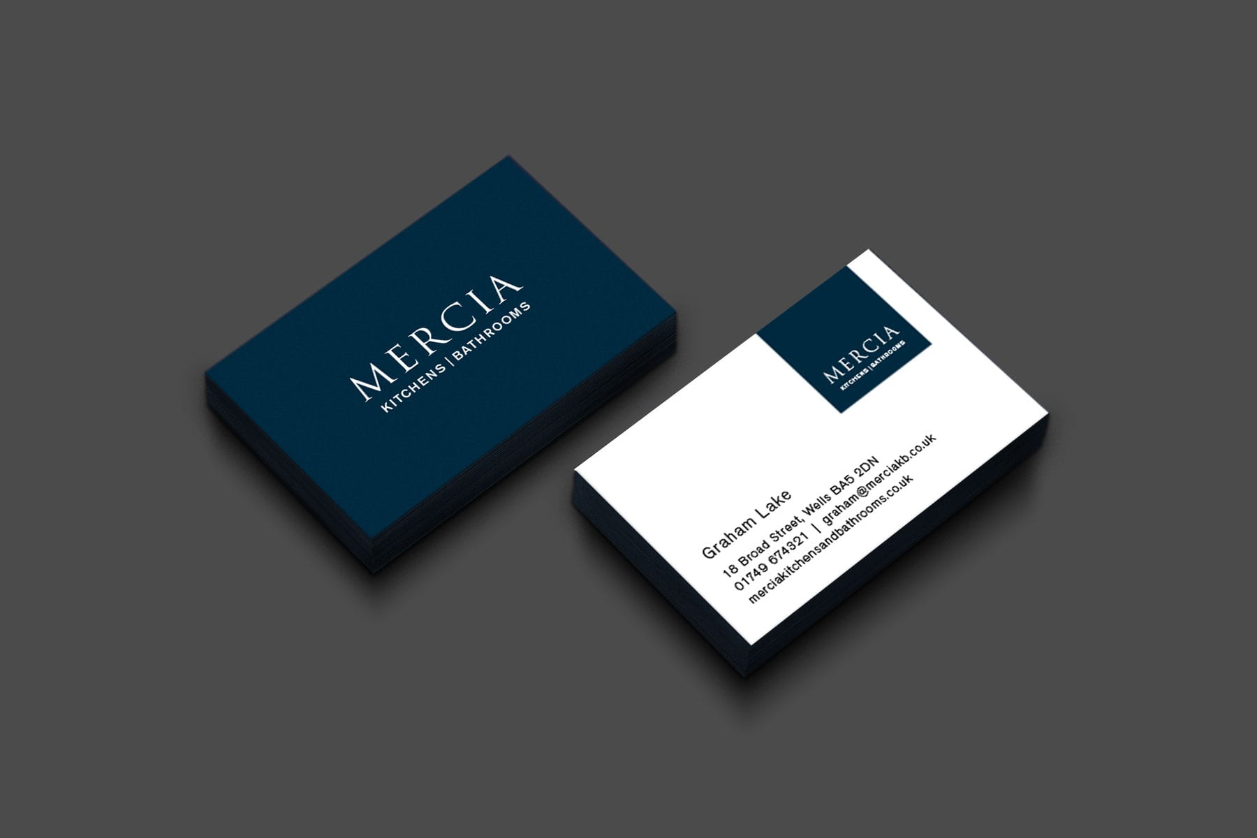 Mercia business cards