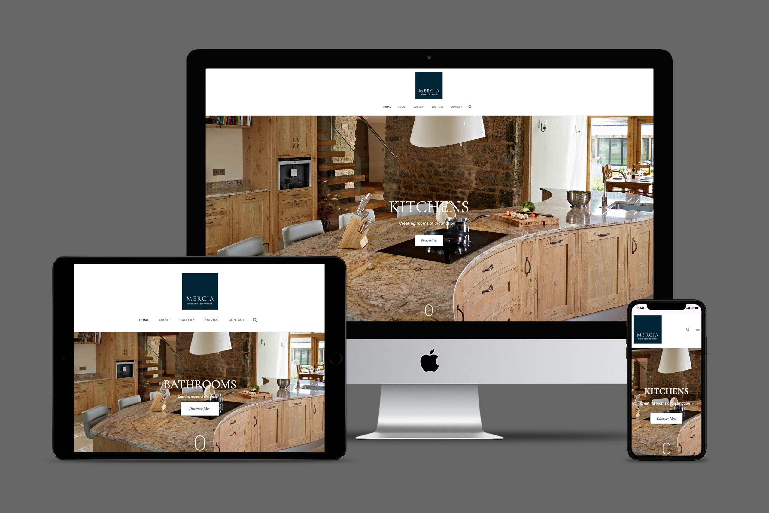 Mercia kitchens and bathrooms website design