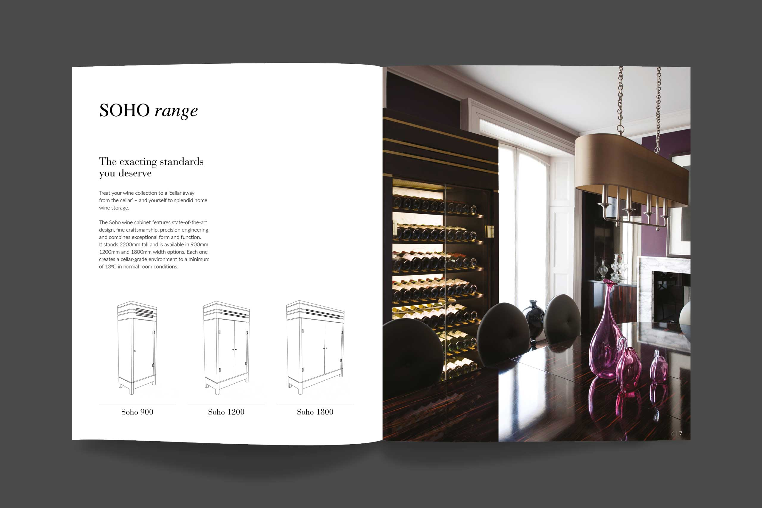 Spiral Cellars spread for print