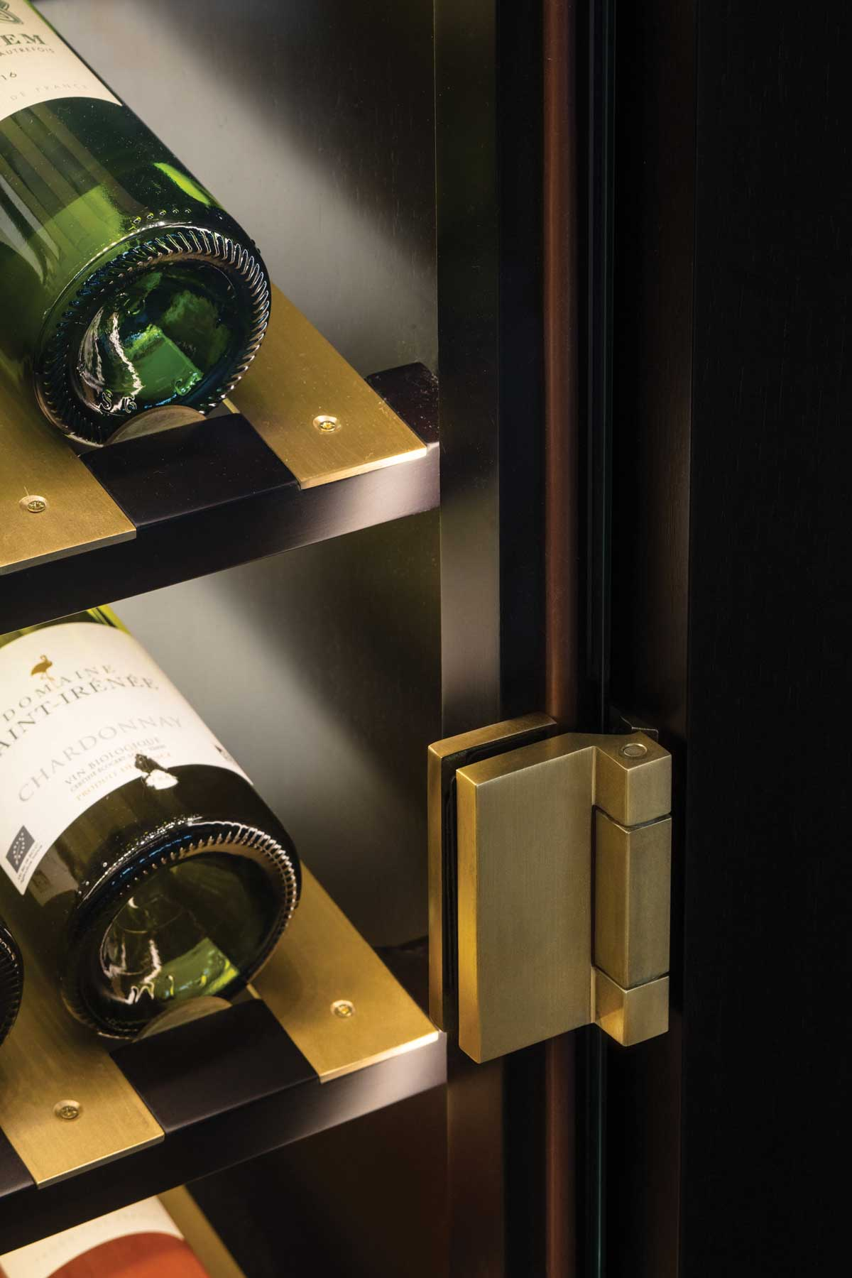 Luxury interior product marketing for Spiral Cellars photo detail of cabinet