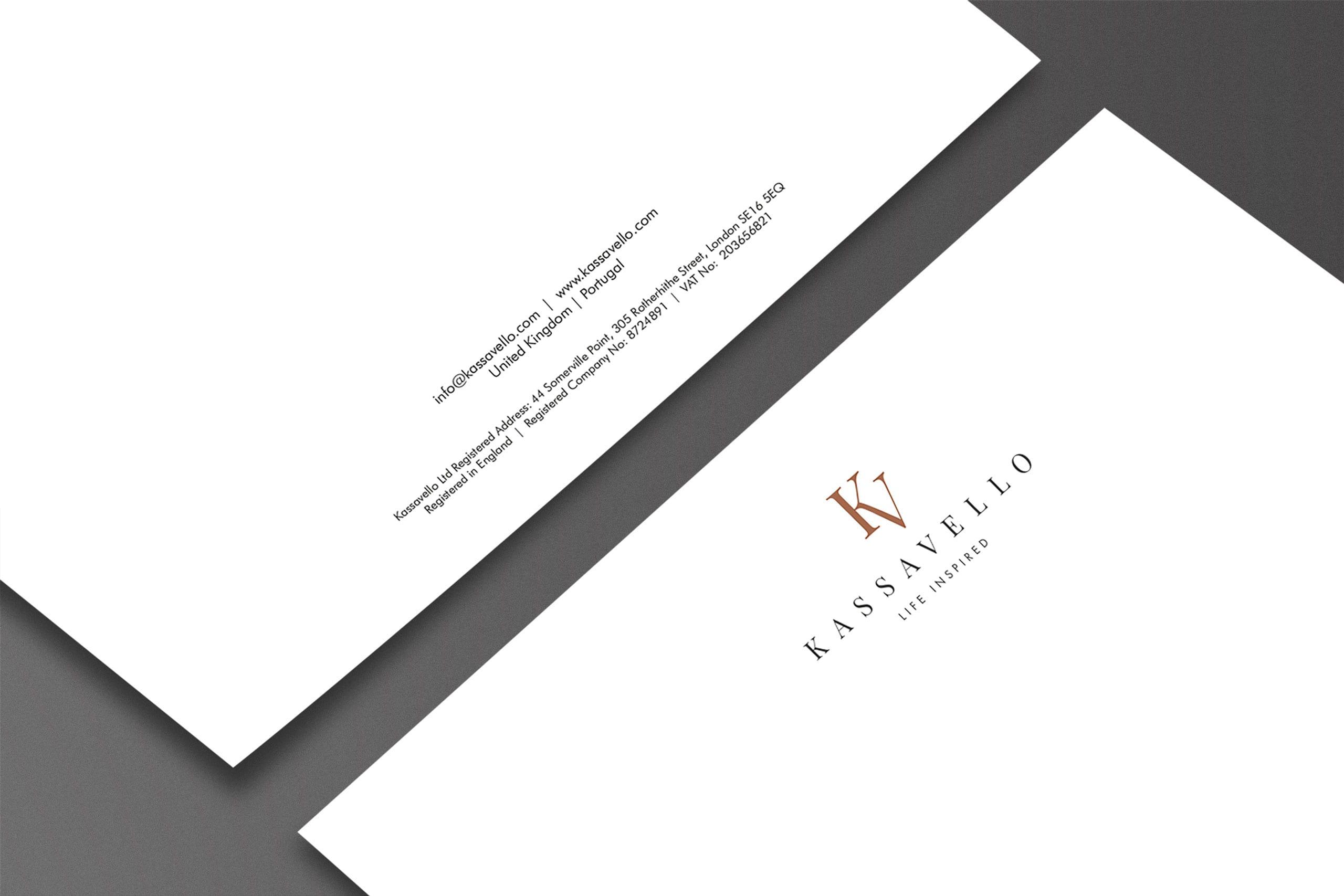 Kassavello letterhead Luxury furniture logo design