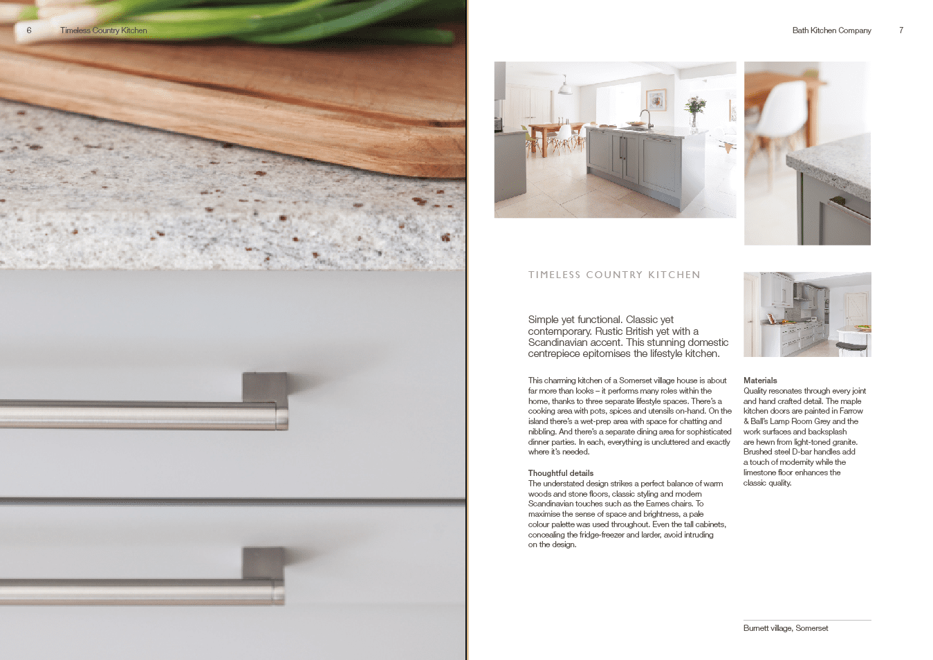 Brochure copy for Bath Kitchen company