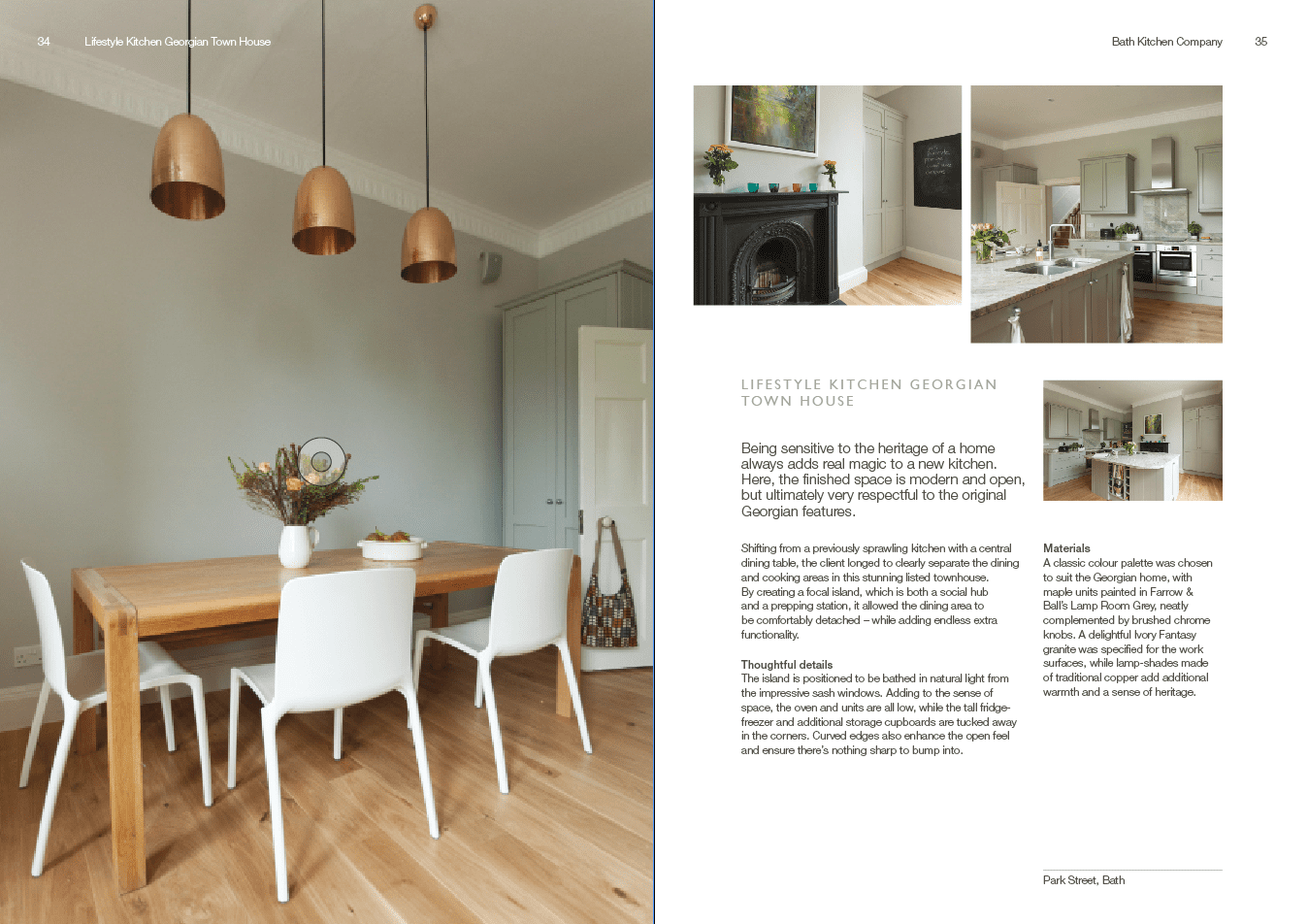 Copy for Bath Kitchen Company brochure