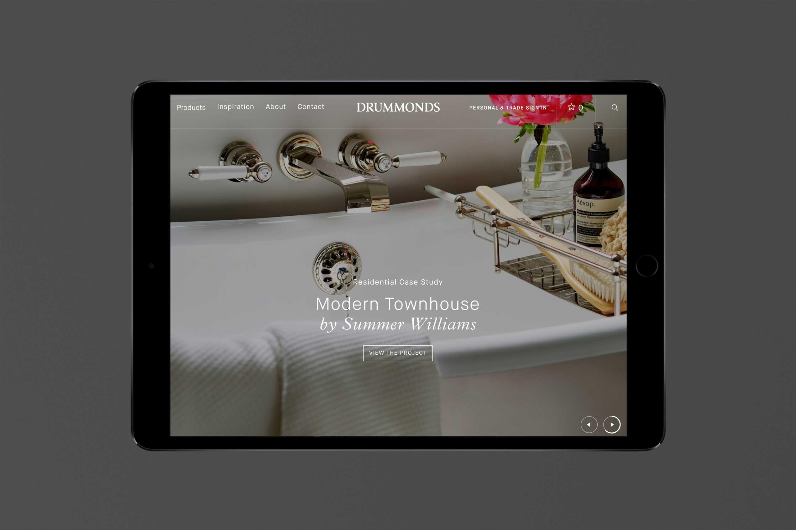 Drummonds logo on website